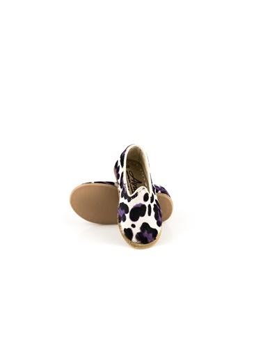 Aintap %100 Hakiki Deri Çocuk Ayakkabı Leopar Mavi Gaziantep Yemeni Leopar
